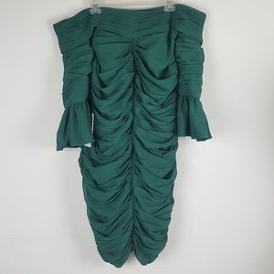 JJ' House Ruched Off Shoulder Bodycon Dress